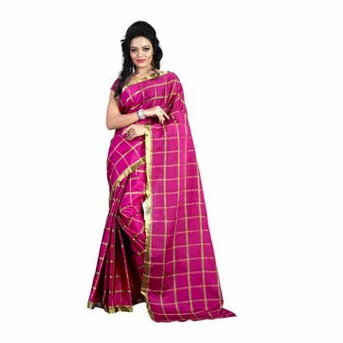 76a1c15c6f Chanderi Cotton Saree   Silvermoon Fashion   Manufacturer in ...