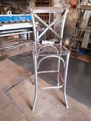 Cross Back Iron Bar Chair