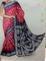 Chanderi Silk Block Printed Saree, Length: 6.2 M