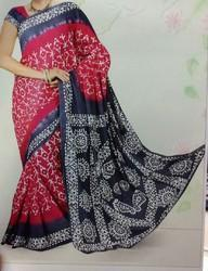 Block Printed Chanderi Silk Saree