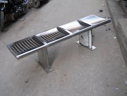 Stainless Steel Furniture 4 Seater Steel Bench