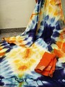 Handloom saree ..with print