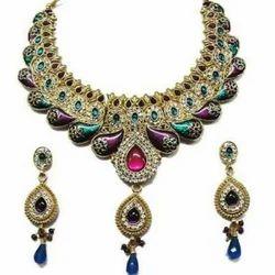 Sun Immitation Imitation Bridal Necklace Set