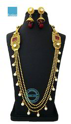 Traditional Ruby Rajwadi Necklace Set