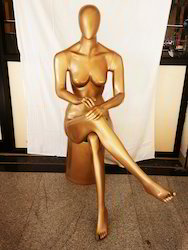 Sitting Golden Female Mannequin