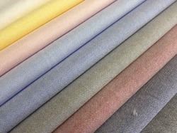 Plain Regular Wear Oxford Shirting Fabric