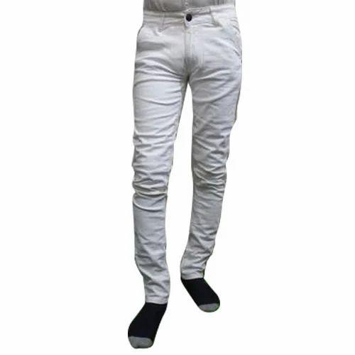 Men Jeans - Men Pure White Jeans Manufacturer from Delhi