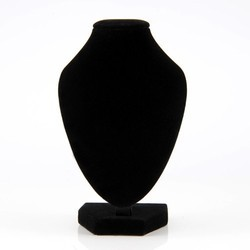Black Velvet Necklace Display Stand