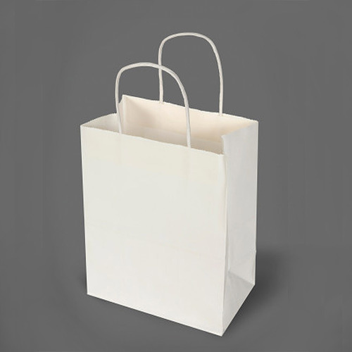 Plain Handled Any Paper Bags Capacity 500gm 1kg 2kg 5kg
