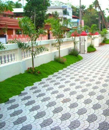 Interlocking tiles in kerala images for Exterior floor tiles design kerala