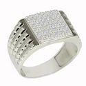 SHRI0582 925 Cz Silver Men's Ring