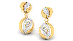 14k Hallmark Gold Diamonds Earrings