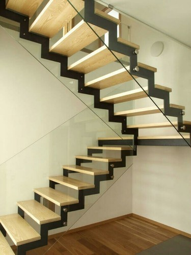 Duplex Staircase With Ms Plate Structure Duplex