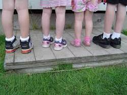 Children Wear Shoes