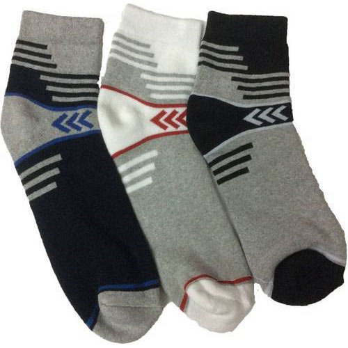 Gentle Cotton Spandex Terry Quarter Length Socks, Size: Free