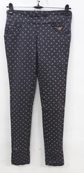 Black Printed Skinny Fit Zola Pant