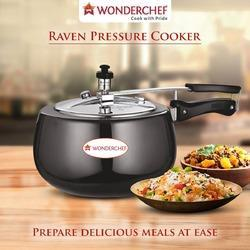Wonderchef Raven Hard Anodised Pressure Cooker