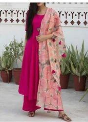 Casual Wear Stitched Plazo Dress Suit