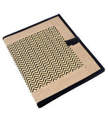 Jute Folder with Cloth Panel and Jute Border