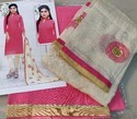 South Cotton Salwar Suits with Khadi Embroidery Dupatta