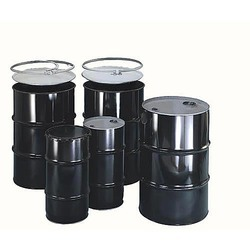 Black 1 Open Top Drum With Lock Rings, For Industrial, Capacity: 0-50 litres