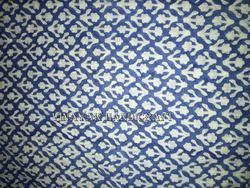 Blue Creeper Design Block Printed Fabrics