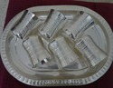 Silver Coated Six Glass With Tray