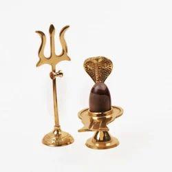 Brass Shivling Jaladhari