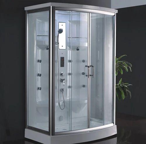 Crystal Shower Cabin Oyster Shower Cabinet शॉवर केबिन Anuj Sanitation Amp Builders Ludhiana