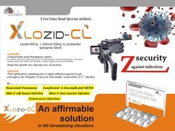 Linezolid 600mg, Cefixime 200mg, Lactic Acid Bacillus Tablet