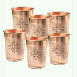 Round Copper Glass, Size: 8 Mm, Capacity: 200 Ml
