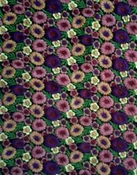 Zari Work Flower Embroidered Fabric