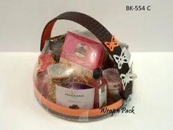 Round Wooden Gift Baskets