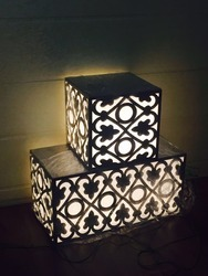 SS Designer Backlit Gate Lamp