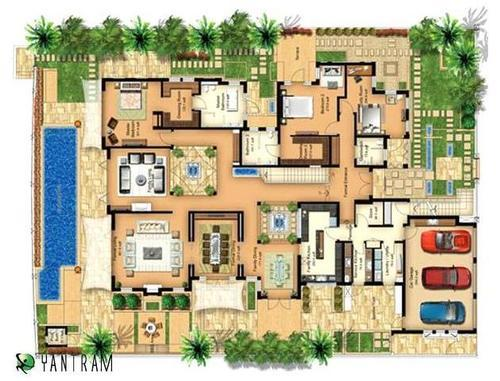 Architectural Layout Plan For House In India