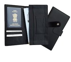 Black Leather Checkbook Wallet