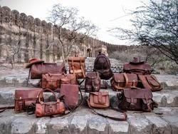 Vintage Brown Leather Designer Bags