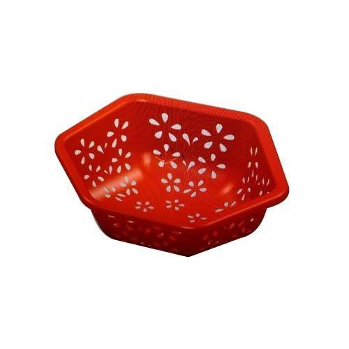 Ambica Tech Red Plastic Fruit Basket