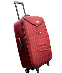 Red Polyester Luggage Trolley Bags