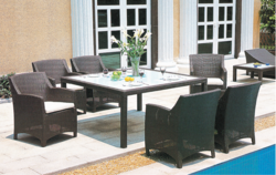 Nice Style Wicker Dining Table Set
