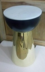 A.R.Handicraft 35x58cms Brass Marble Table