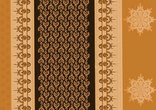 Table Mat With Coaster Motifs Design