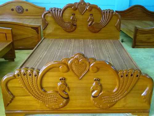 Bedroom Furniture Peacock Cot Manufacturer From Coimbatore