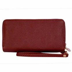 Maroon Female Ladies Designer Wallet