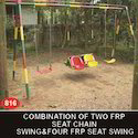 Combination Swing Two FRP Seat Swing And Four FRP Kids  Seat
