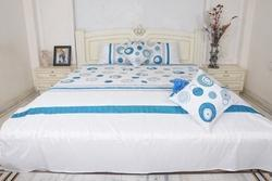 Silk Dupion Queen Size Bedspread With Cushion Cover 5pcs set