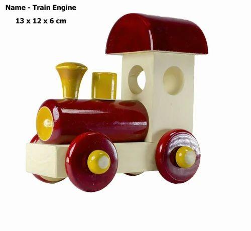 Train Engine Wooden Toy