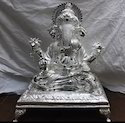 Antique Silver Big Ganesh Statue, Packaging Type: Box, For Gift
