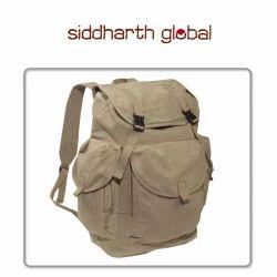Khaki Siddharth Canvas Backpack