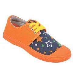 Kayvee Footwear Kids Orange Canvas Shoes